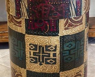 Charles Huckeba  Artist Made Drum Pedestal26in H x 20.5in Diameter