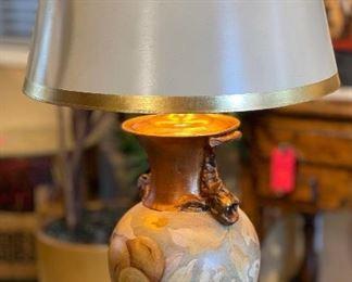 Signed Ceramic Lamp34in h x 21in Diameter