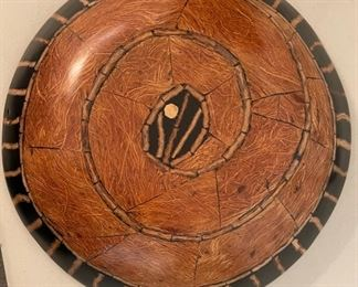 Ethnic Wood & Epoxy  Decor Disc/Bowl Large4in H x 22.5in Diameter