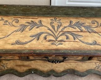 Alexander-Sinclair Hand Painted Console Desk/Table39x65x18inHxWxD
