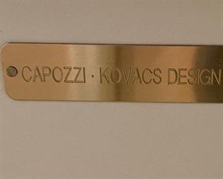 Capozzi Kovacs Design Iron Frame Accent Chest/Trunk22x18x12inHxWxD