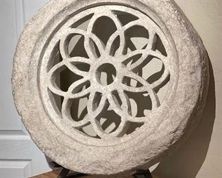 Huge Stone Wheel/Disc Artist Made32x29x17in 29in diameter