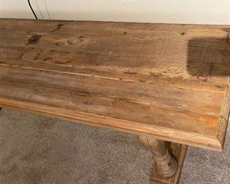 Long Rustic Console Table31x87x19inHxWxD