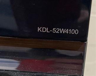 Sony Bravia 52in 1080p HD TV KDL-52W410032.5x49.5x6inHxWxD