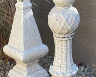 2pc Ceramic Finials Decor PAIR29in H & 24in H
