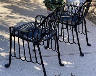 2pc Metal Patio Chairs  PAIR31 x 22 x 20HxWxD