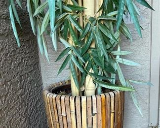 Faux Bamboo Outdoor Plant87 in h
