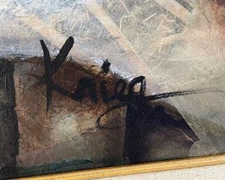 Susan Kreig Art Metamorphosis Mixed Media62x50in