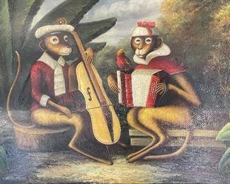 *Original* Art Monkey Accordion & Cello27.5x39.5in