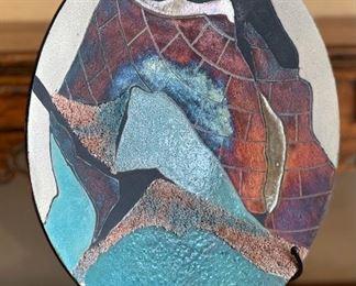 George Kernan Raku Pottery Bowl/Platter23in Diameter x 5in D