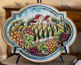 The Art Gallery Firenze Majolica Platter16x19.75inHxWxD