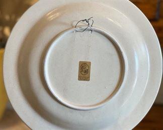 Italian Majolica  L'Albero Capovolto  Plate12.25in Diameter