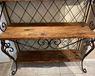 Alexander Sinclair Rustic Iron & Wood Shelf/Bakers Rack82x49x18inHxWxD