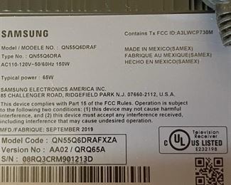 """Samsung 55"""" Class Smart 4K Ultra HD Smart QLED TV QN55Q6DRAFXZA28x49x2HxWxD"""