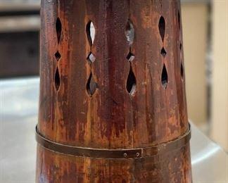 Antique Wood Grain Bucket Decor15in H x 12in Diameter