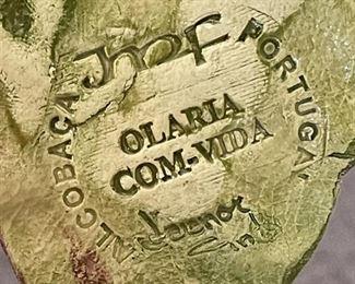 #1 JMF Alcobaca Portugal Ceramics Fruit Wall Plaque Majolica10in Long