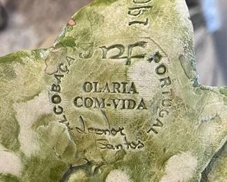 #3 JMF Alcobaca Portugal Ceramics Fruit Wall Plaque Majolica10in Long