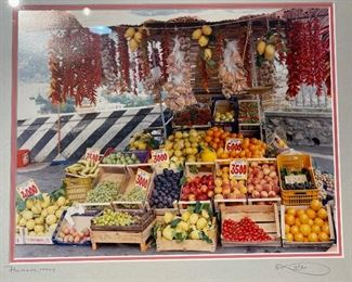 Positano, Italy Framed Market Photo17x21in