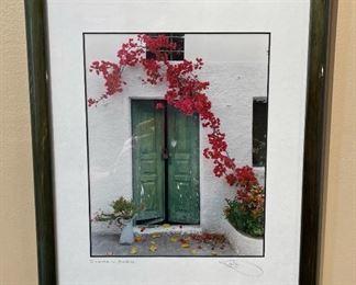 Santorini, Greece Framed Doorway Photo 16x12in