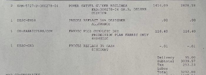 #2 Ladlow's Power Swivel Glider Recliner41x32x36inHxWxD