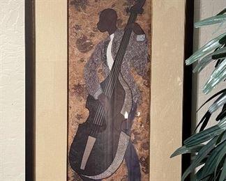 Phyllis Stephens Jammin Jazz Framed Print Bass42x23.4x1.5inHxWxD