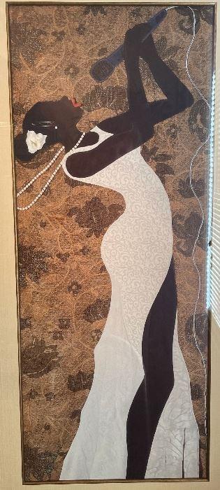 Phyllis Center Stage Jazz Framed Print Singer42x23.4x1.5inHxWxD