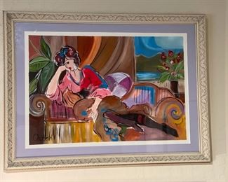 *Original* Art Osten Lady on Sofa23x31x1.5inHxWxD