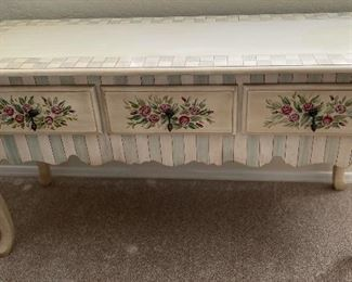 Hand Painted Console Dresser/Table29 x 54 x 20HxWxD
