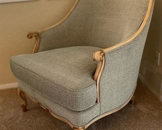 Century Hickory, NC Chair & Ottoman40x34x35inHxWxD