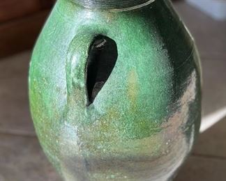 Dark Green Lg Decor Vase20x14x11inHxWxD
