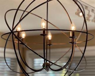 Rustic Orb Chandelier Light28in Diameter 39in Hang