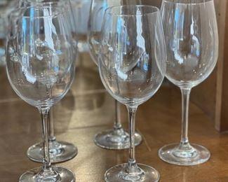 5 pc Schott Zwiesel Wine Glasses10in H x 3in Diameter at topHxWxD