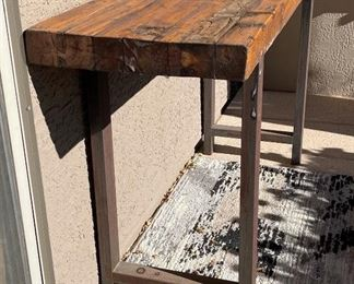 Rustic Wood & Iron Outdoor Console Table36 x 67 x 19.5HxWxD