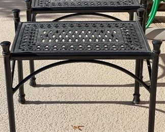 2pc Metal Out Door Patio End Tables22 x 18 x 27HxWxD