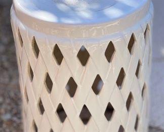 Ceramic Garden Stool18in H x 14in Diameter