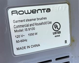 Rowenta Garment Steamer IS9100