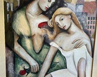 Susan Kreig Art Femmes DU Monde II Mixed Media Femmes62x50in
