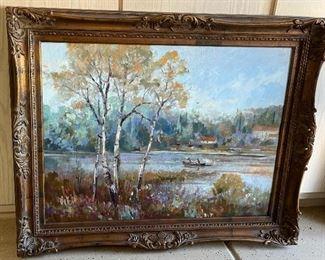 *Original* Art Lake Scene Jackson39x48in