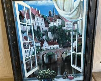 Canvas Print Canal-Side Villa Lorenzo39x31in