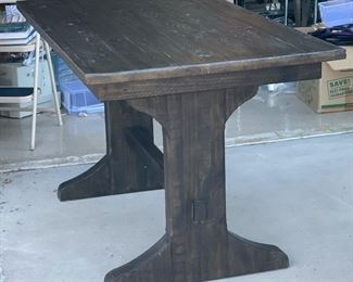 Rustic Valencia  Counter Height Trestle Dining Table36x35x66HxWxD