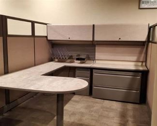 (17) Herman-Miller Action Office Panel System Cubicles, All Connected