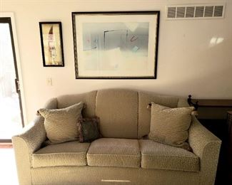 """Curved Back Three Cushion Couch by Kravet """"Laslo"""""""