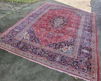 8'x11' Semi Antique Kashan...wool, Iran.