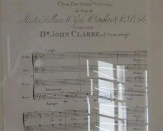 "Restoration hardware prints of musical scores.  In gilt frames.  Frame 25"" x 21"" $70 each"