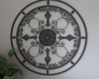 """Grey glazed pottery floor vase.  H 29"""" $55"""