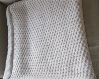 """Pottery Barn faux fur and knit throw.  54"""" x 45"""" $30"""