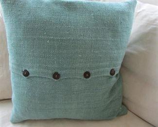 """Two linen pillows. 19"""" x 19"""" $10 each"""