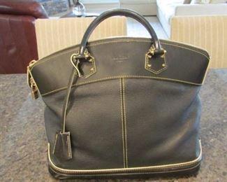 """Louis Vuitton black leather purse. H 10"""", width 13"""" $350"""