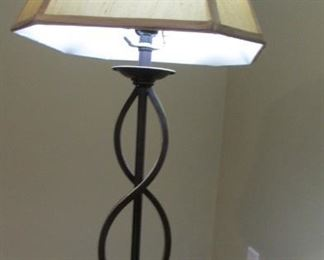 """bronze finished table lamp. H 40"""" $35"""