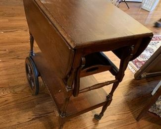 #5	Drop-Side Tea Cart on Wheels w/removable Tray 15-33x24x29	 $175.00